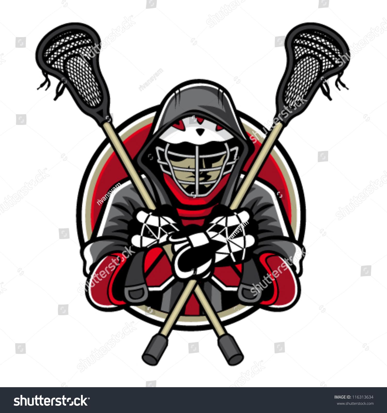 Illustration Lacrosse Players Crossed Lacrosse Sticks ...