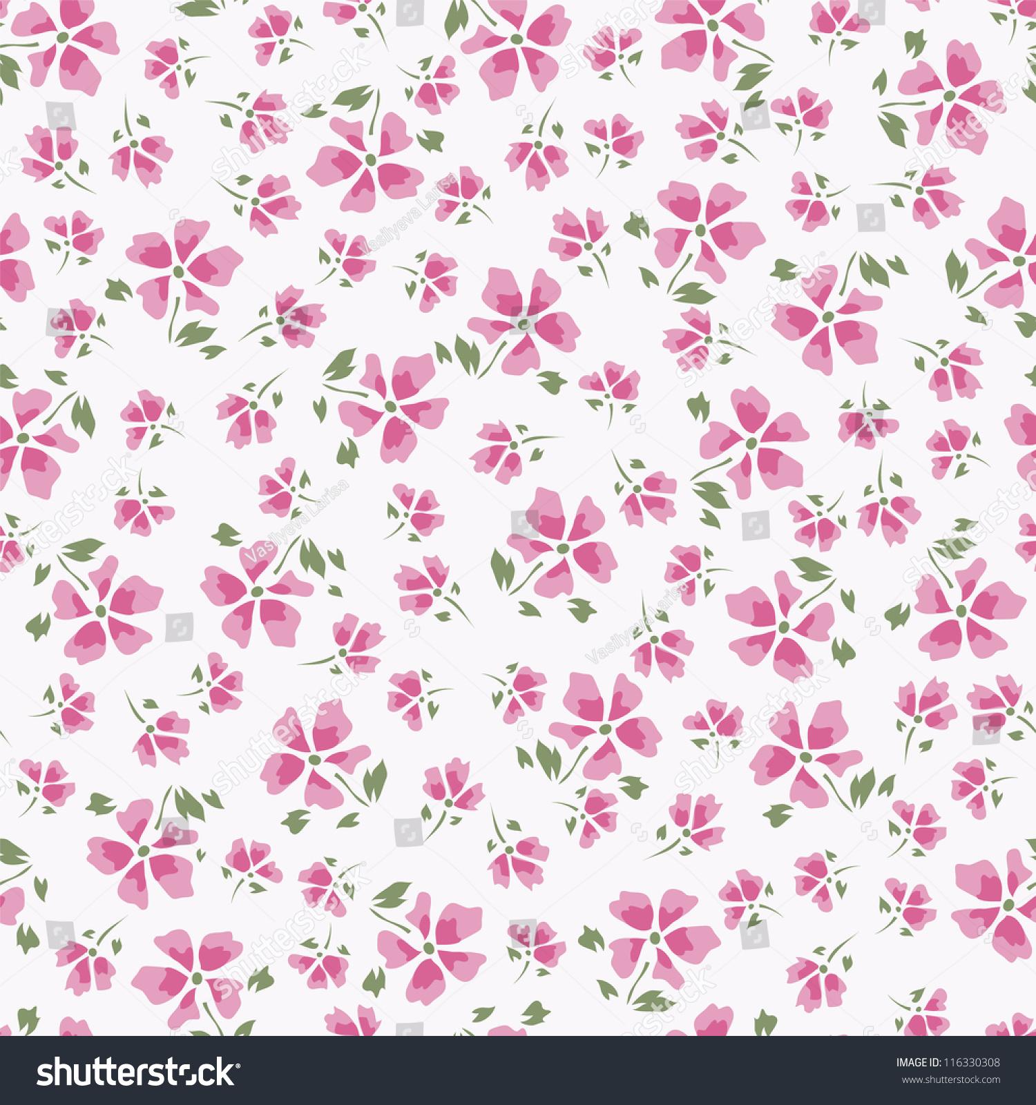 Simple Vintage Floral Pattern