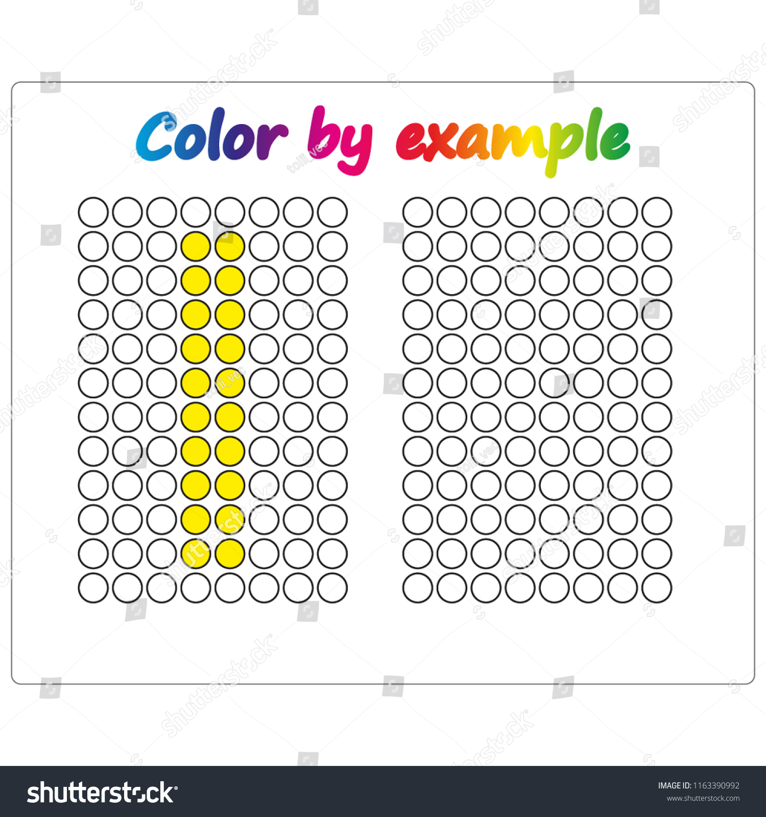 Color By Example Learning Alphabet Letters Stock Vector (Royalty ...