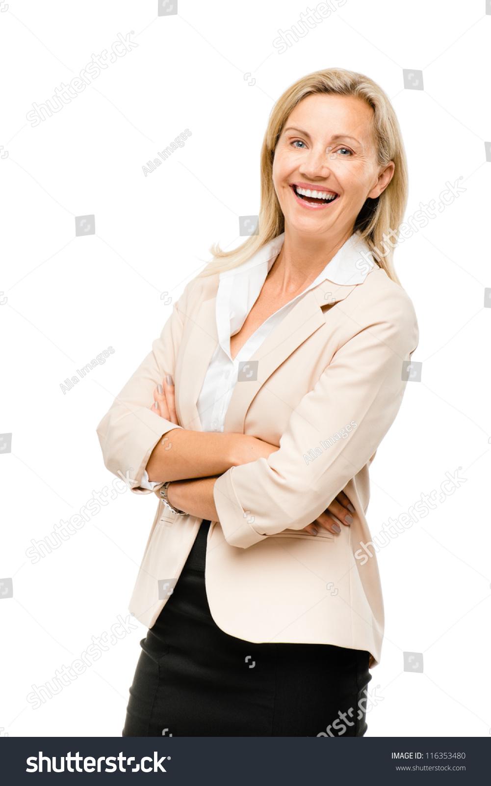 Happy mature women