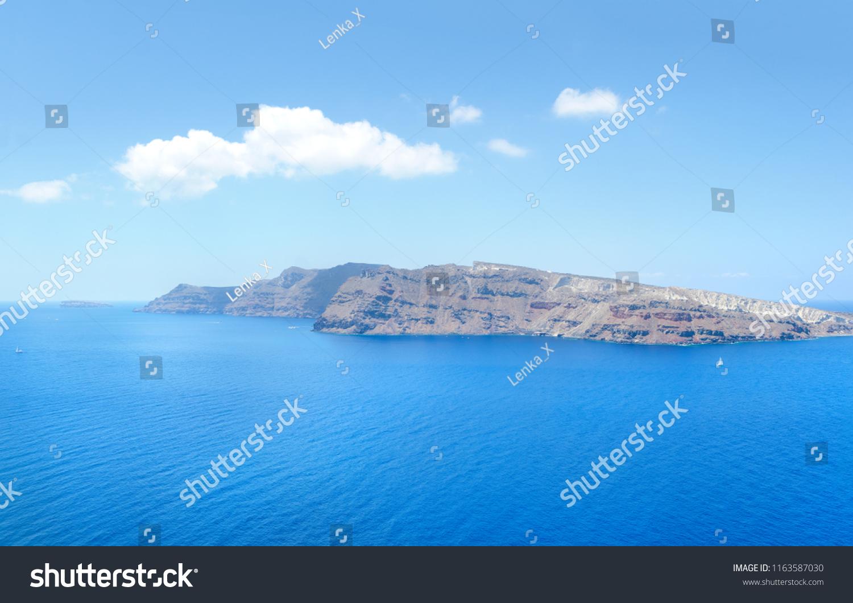 Panoramic Caldera Oia Island Santorini Greece Stock Photo (Edit Now