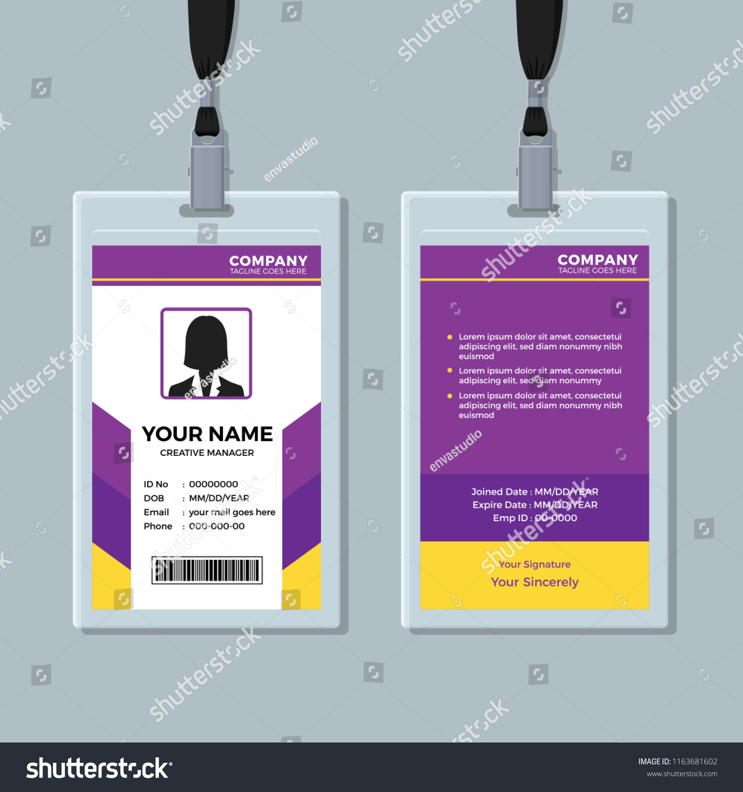 Purple Yellow Id Card Template Stock Vector Royalty Free 1163681602,Diy Country Light Fixtures