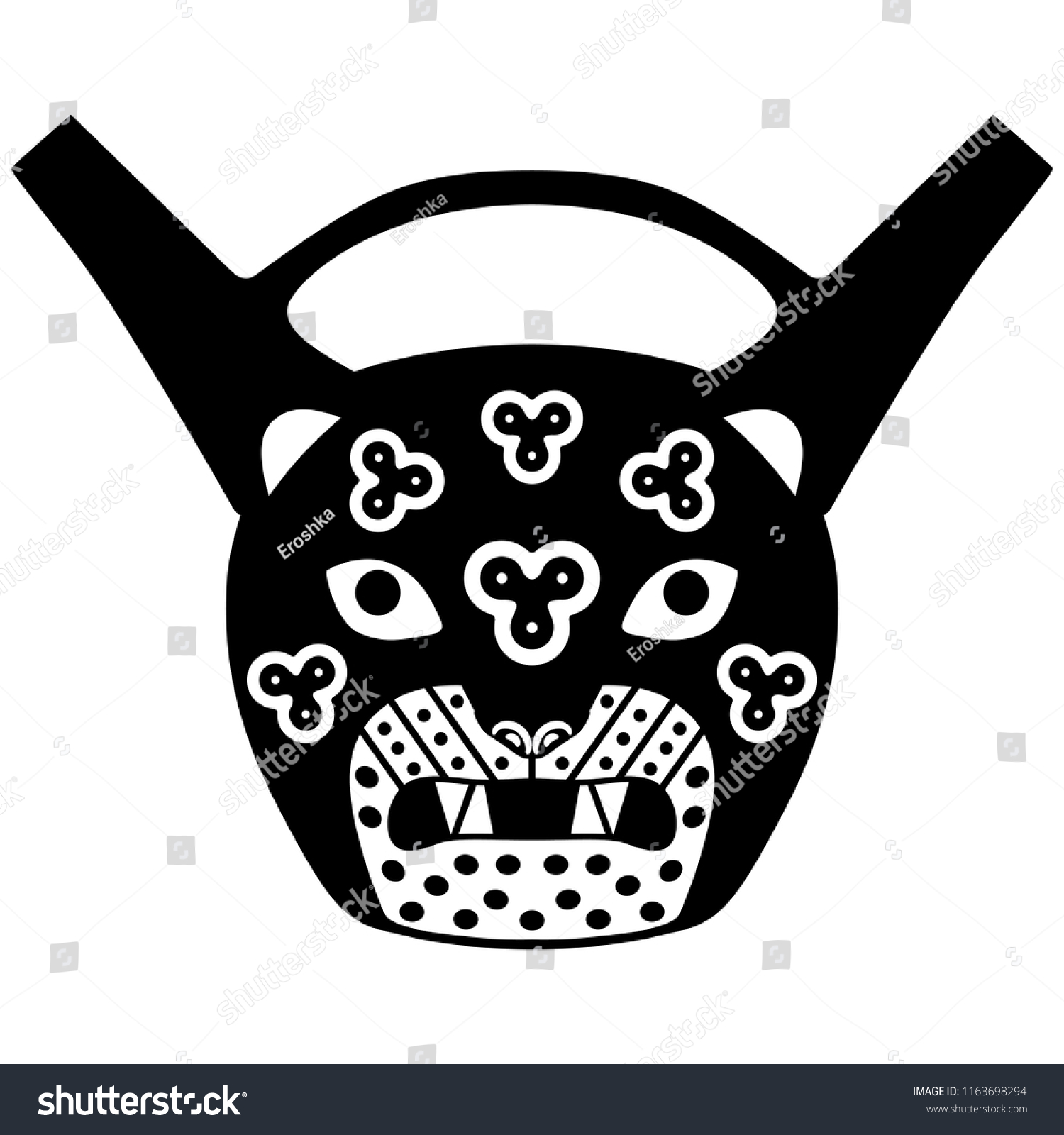 Isolated Vector Illustration Ancient Peruvian Andean Stock Vector
