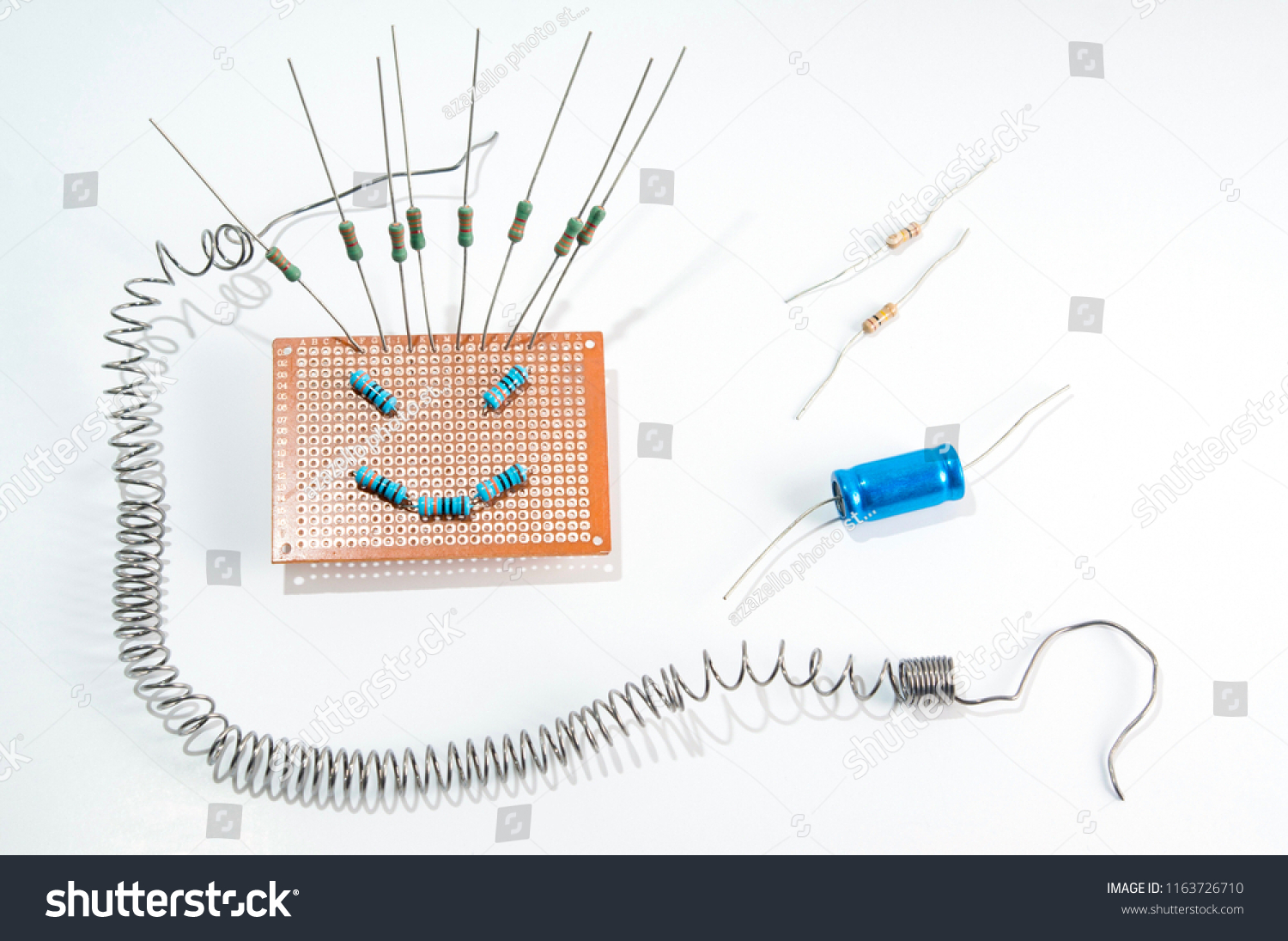 Amazing Face On Blank Breadboardcircuit Board Soldering Stock Photo Edit Wiring Cloud Geisbieswglorg