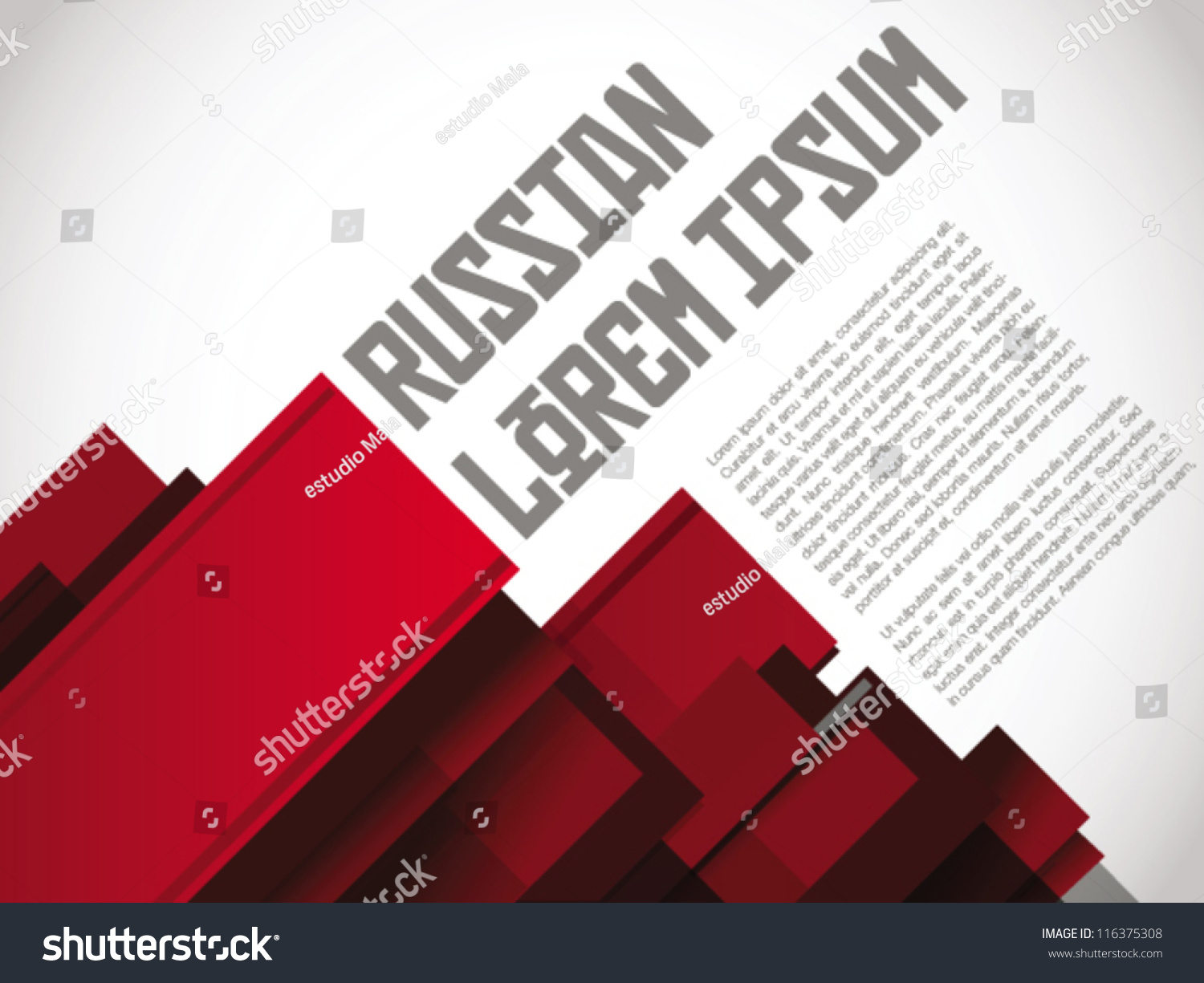 Russian Layout Print Poster Template Vector Stock Vector 116375308 ...