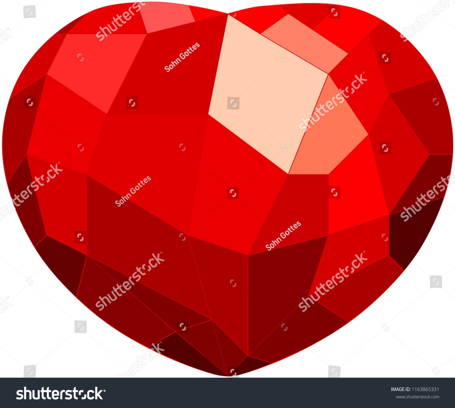 3 D Red Heart Texture Greeting Cards Stock Vector Royalty Free