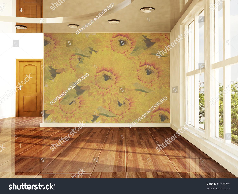 Empty Room Window Door Stock Illustration 116386852 ...