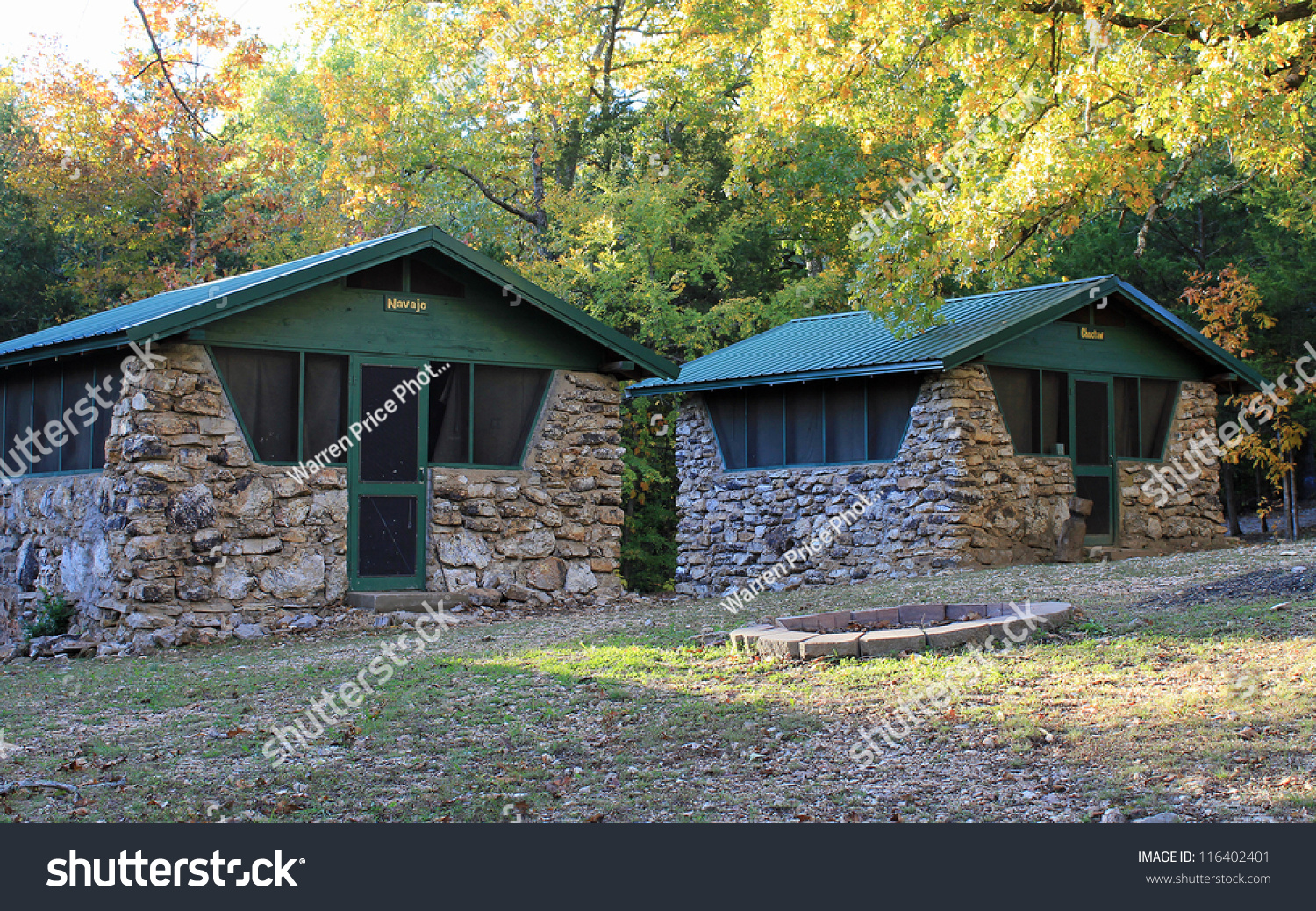 Cabins very old boy scout camp stock photo 116402401 for Cabin builders in arkansas