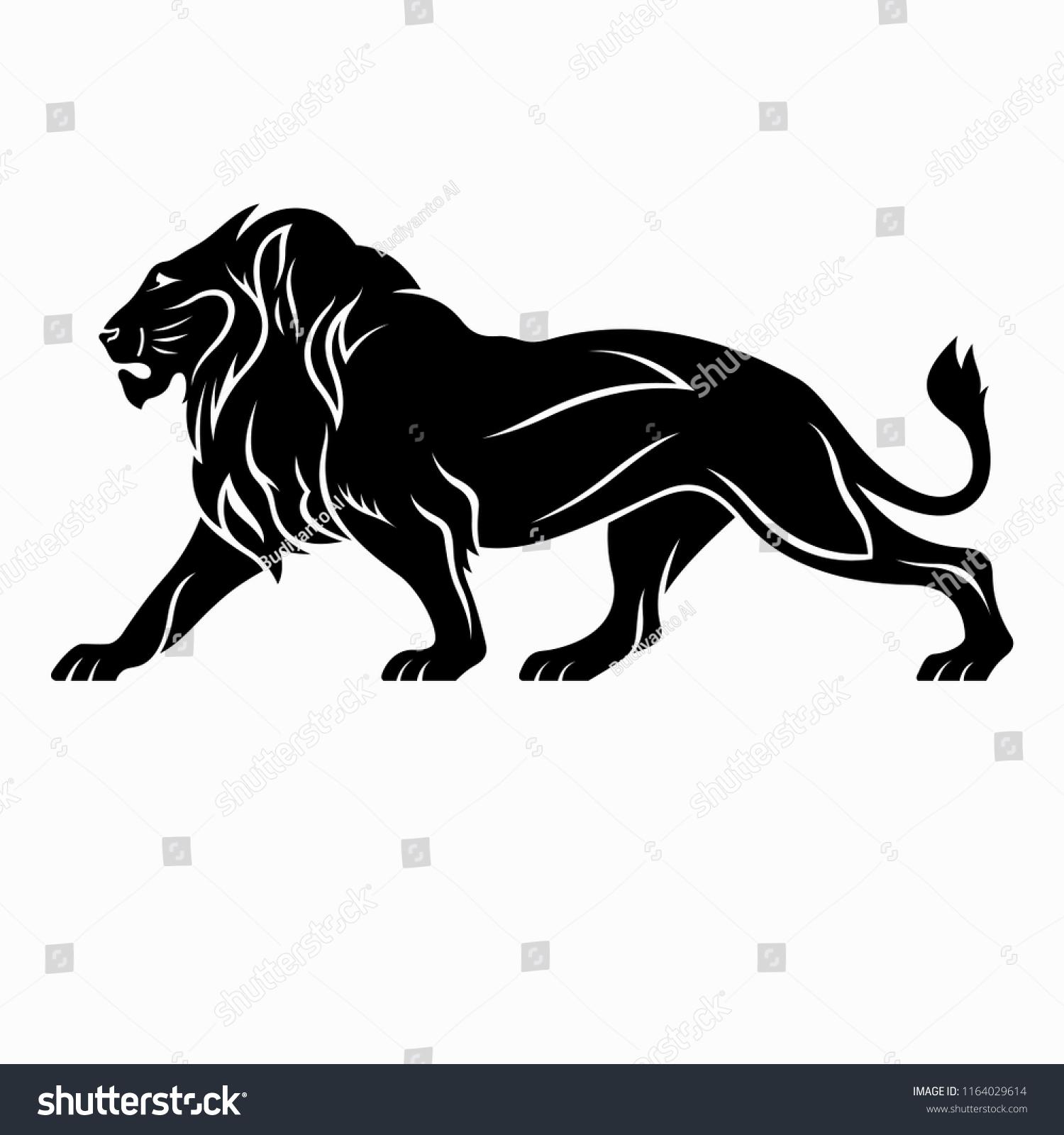 Lion Vector Illustration Design Tattoo Designs Stock Vector Royalty