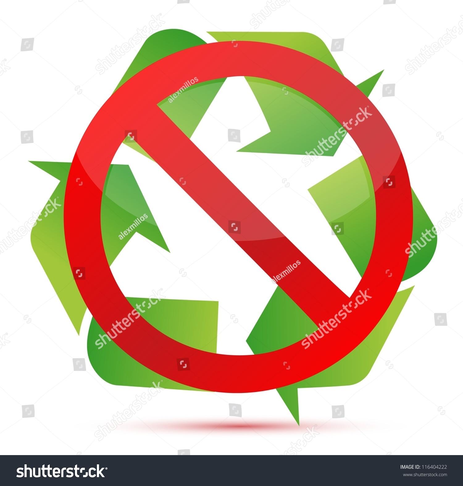 Do Not Recycle Illustration Design Over Stock Illustration 116404222