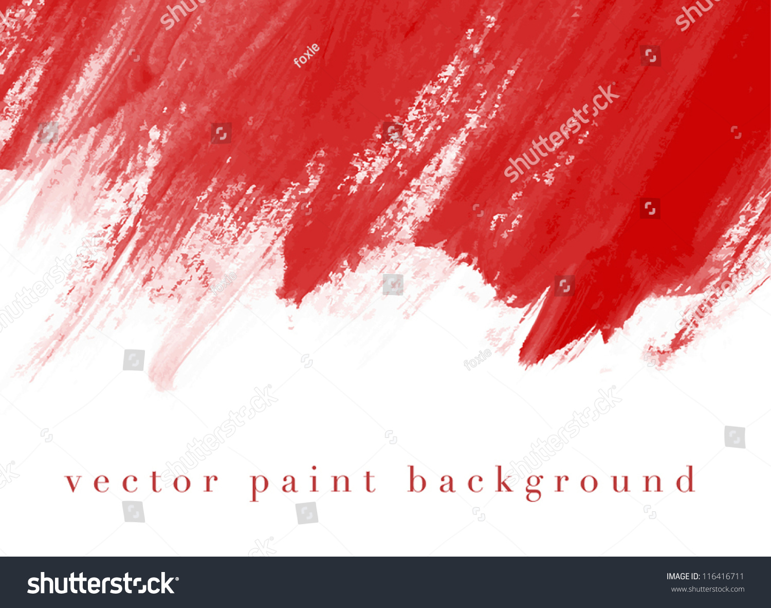 Red Vector Abstract Hand Painted Watercolor Stock Vector