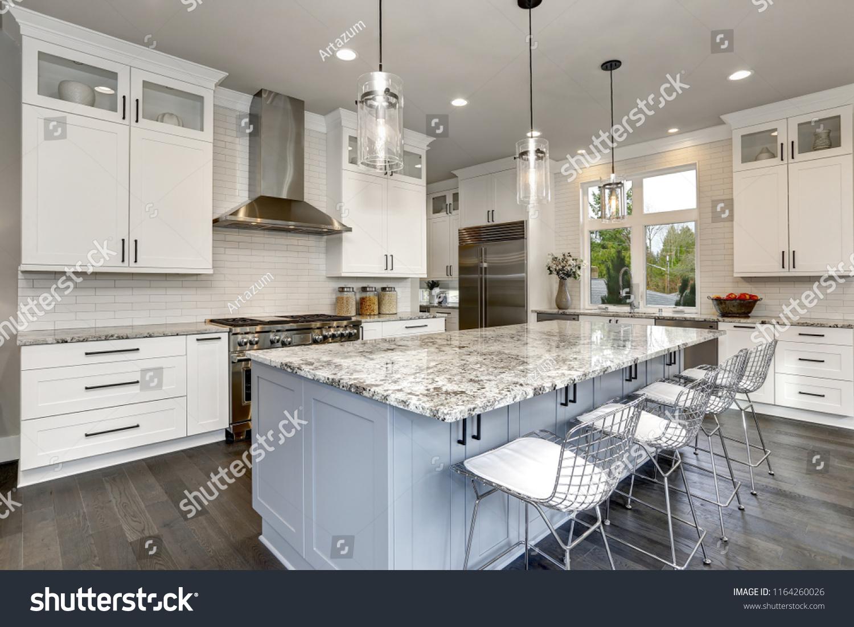 Beautiful Kitchen Luxury Contemporary Home Modern Stock Photo