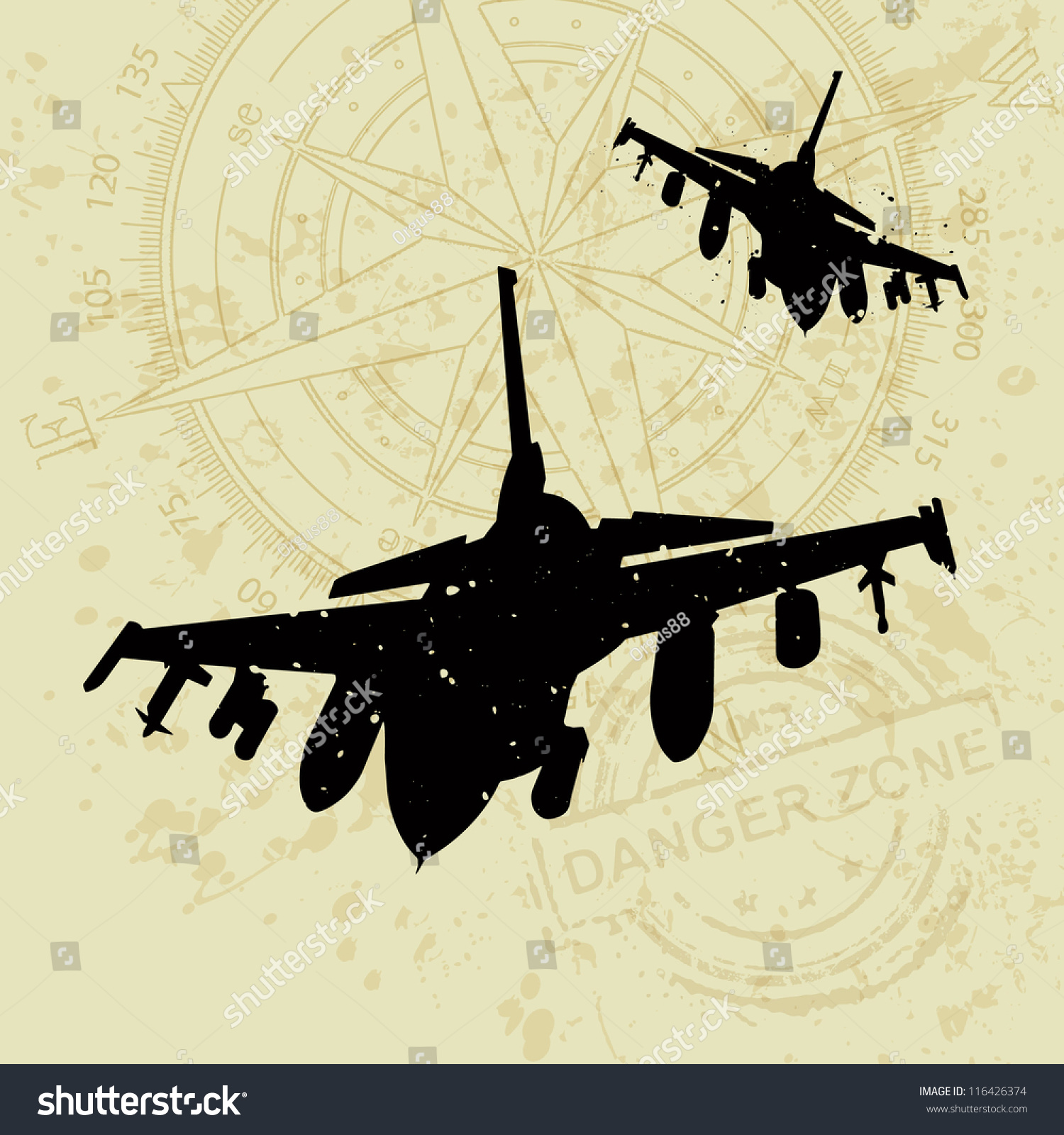 Vector War Theme Background Fighter Army Stock Vector