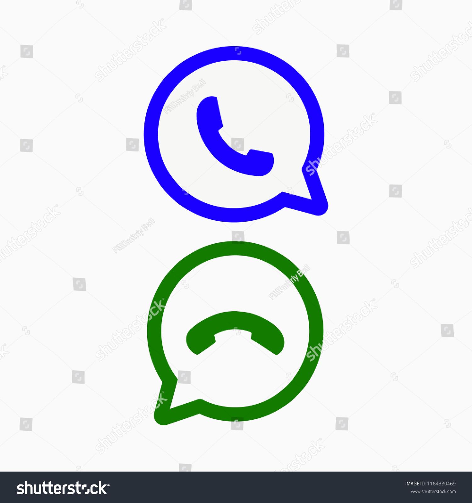 Viber Whatsapp Messenger Logo Line Icon Stock Vector Royalty Free