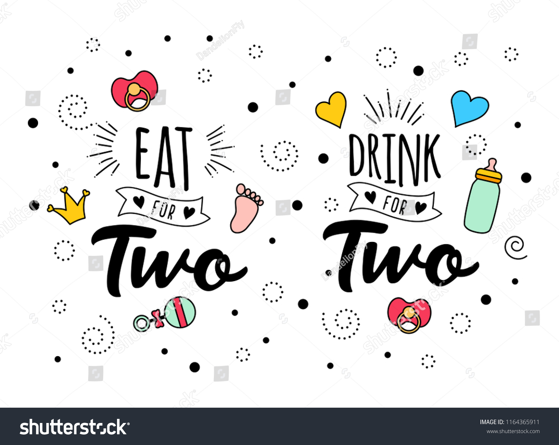 eat drink two mother mama daddy のベクター画像素材 ロイヤリティ
