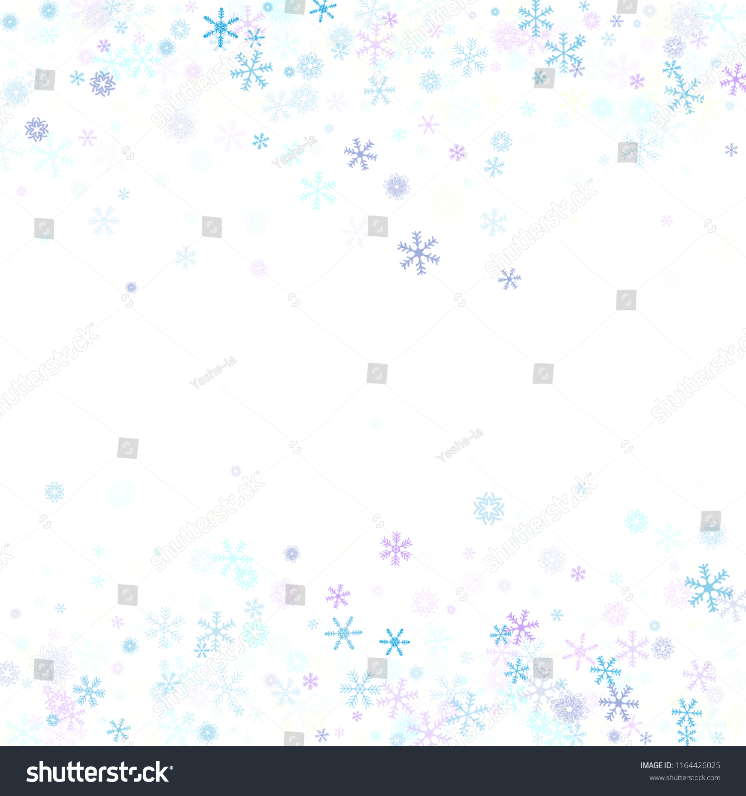 falling snow confetti snowflakes vector border winter holidays christmas new year party