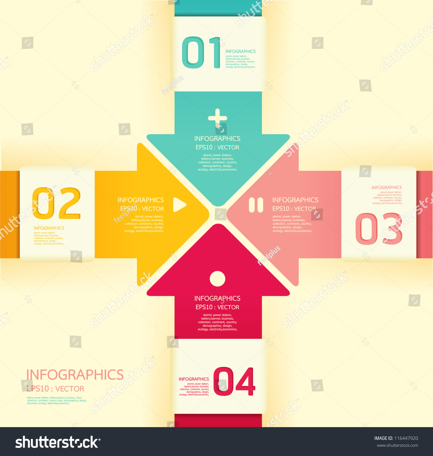 Website soft colors - Modern Soft Color Design Template Can Be Used For Infographics Numbered Banners Horizontal