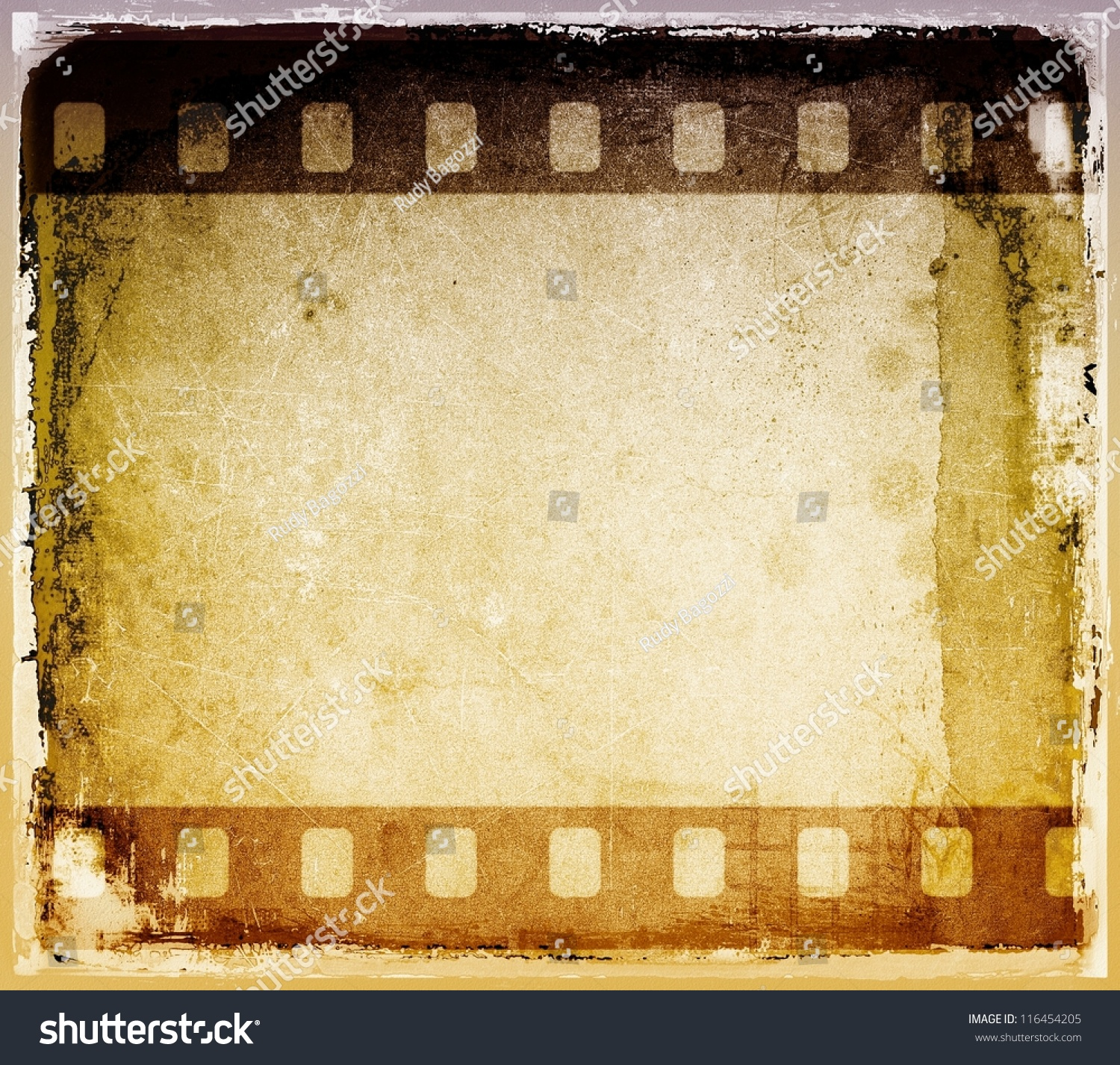 grunge film strip frame
