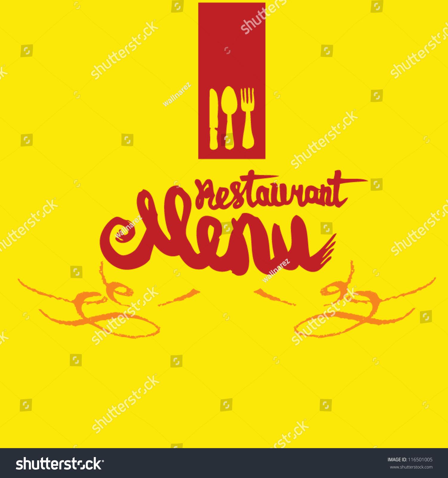 Vector De Stock Libre De Regalias Sobre Restaurant Menu On Yellow Background116501005