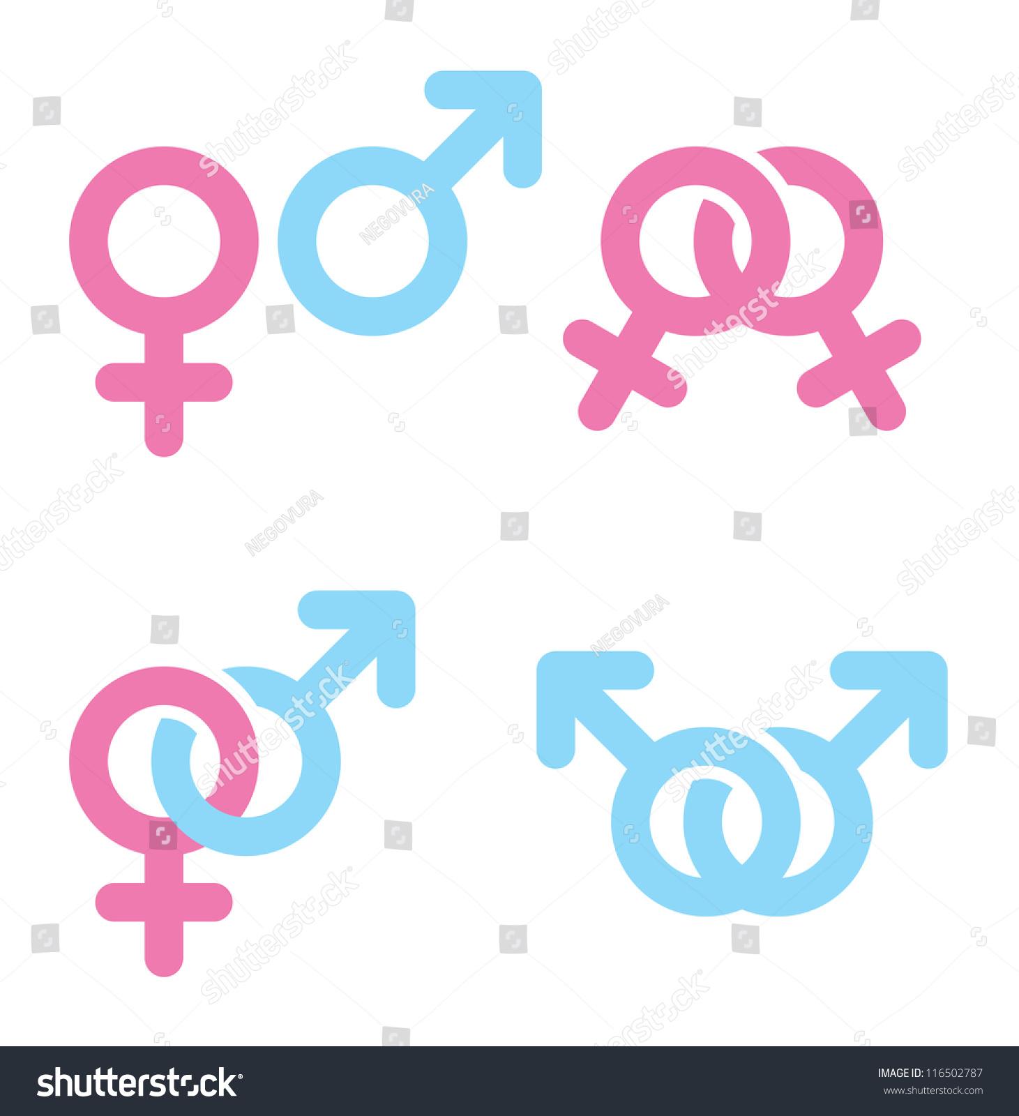 Royalty Free Stock Illustration Of Male Female Symbols Combination