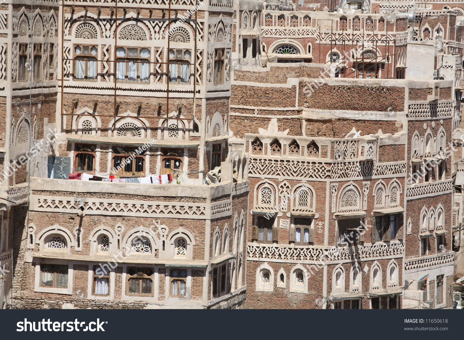 Old Sanaa Building Traditional Yemen House Stock Photo 11650618