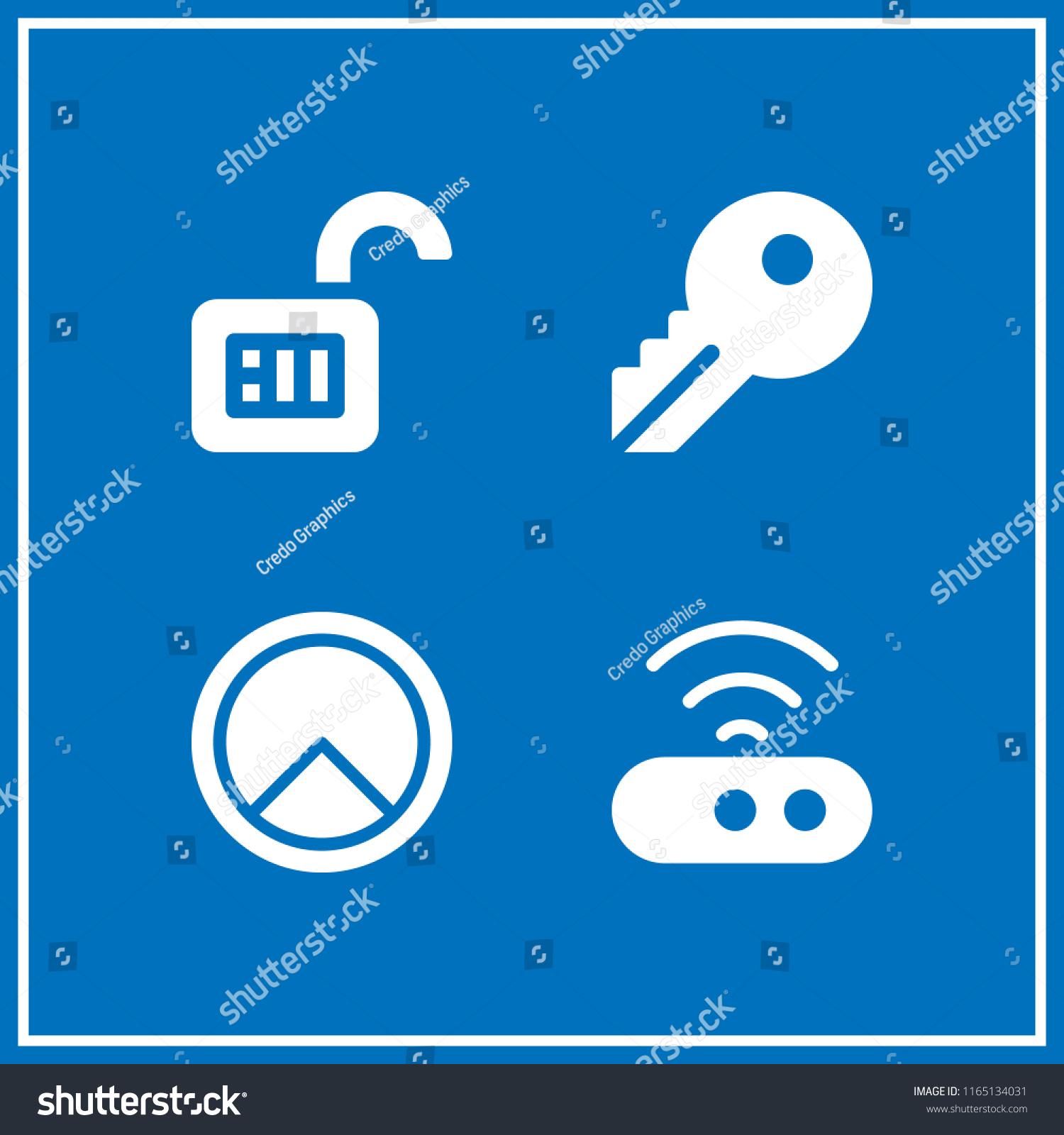 4 Access Vector Icon Set Key Stock Vector (Royalty Free