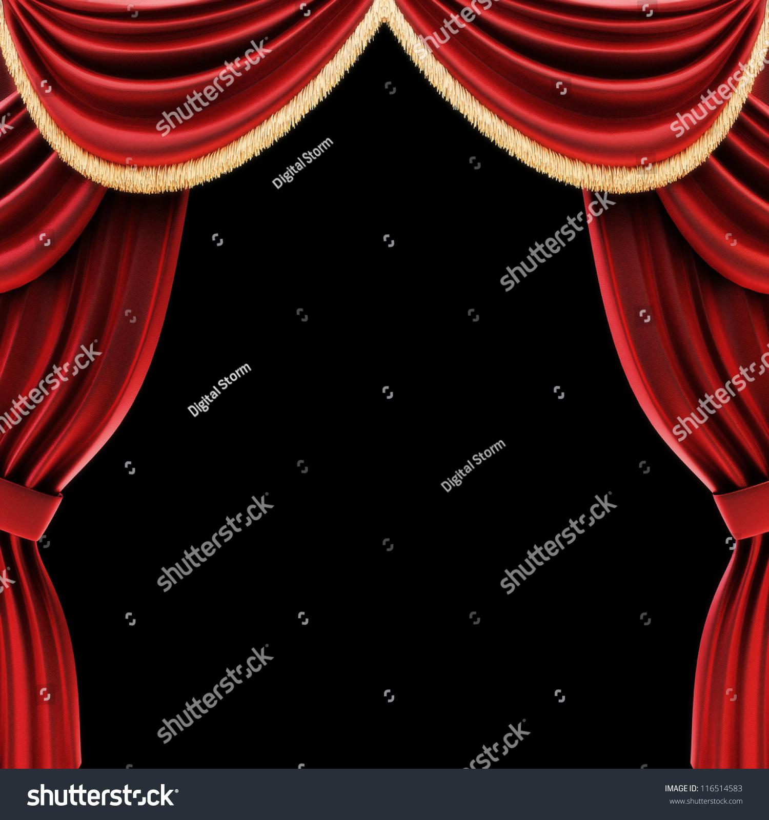Real open stage curtains - Real Open Stage Curtains Open Theater Drapes Or Stage Curtains With A Black Background