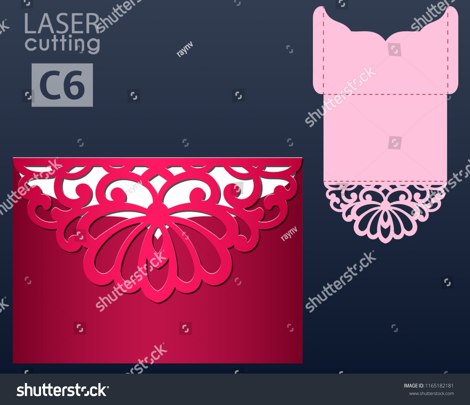 Laser Die Cut Pocket Envelope Template Stock Vector (Royalty Free ...