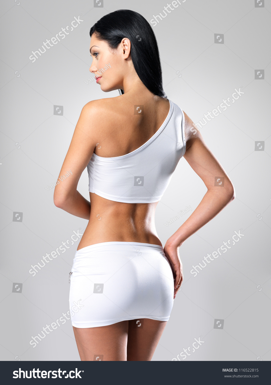 Sexy Woman Beautiful Slim Body Model Stock Photo (Download Now ...