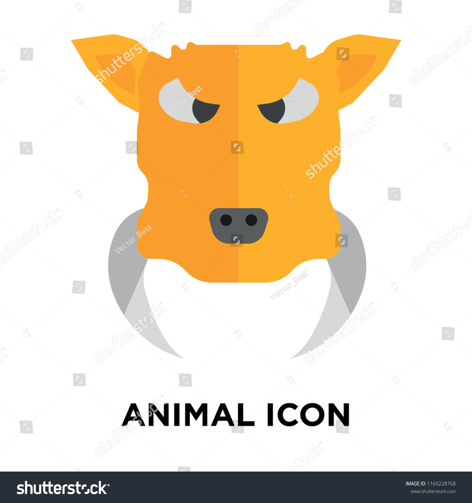 Animal Icon Vector Isolated On White Stock Vector Royalty Free