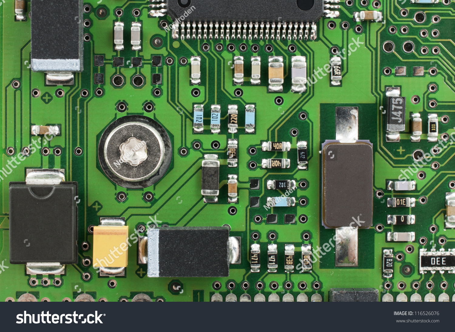 Computer PCB Electronic Components Stock Photo (Edit Now) 116526076 ...