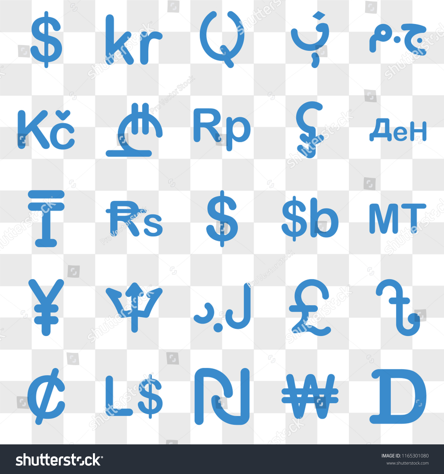 Set 25 Transparent Icons Such Mozambique Stock Vector Royalty Free