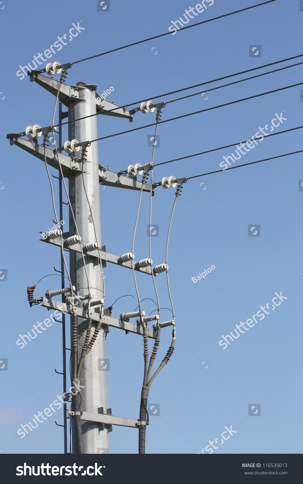 Details Transmission Line Assembly Which Shown Stock Photo (Edit Now ...