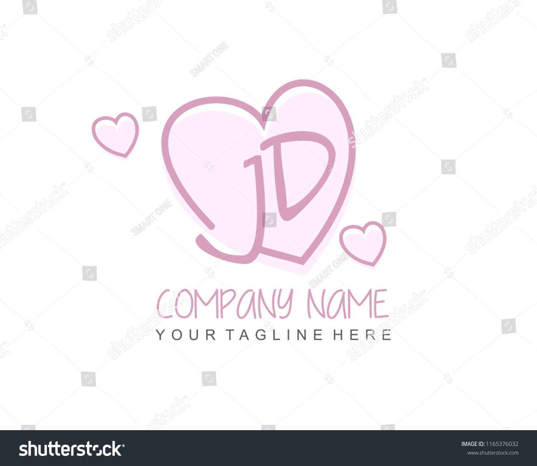 initial j d love logo template stock vector royalty free 1165376032 https www shutterstock com image vector initial j d love logo template 1165376032