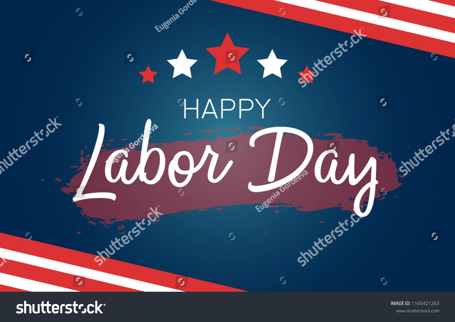 Labor Day Greeting Card Us Flag Stock Vector Royalty Free