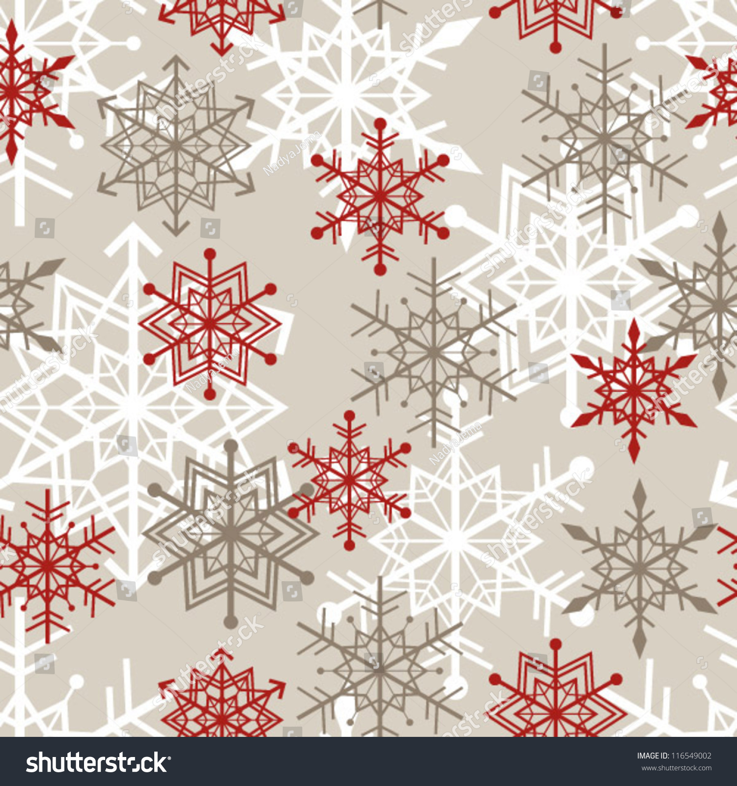 seamless snowflakes background pattern  winter theme  vector ill