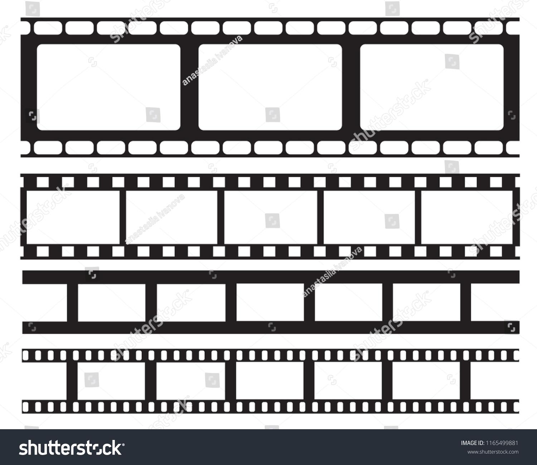 Set Old Retro Vntage Film Strip Stock Vector (Royalty Free ...