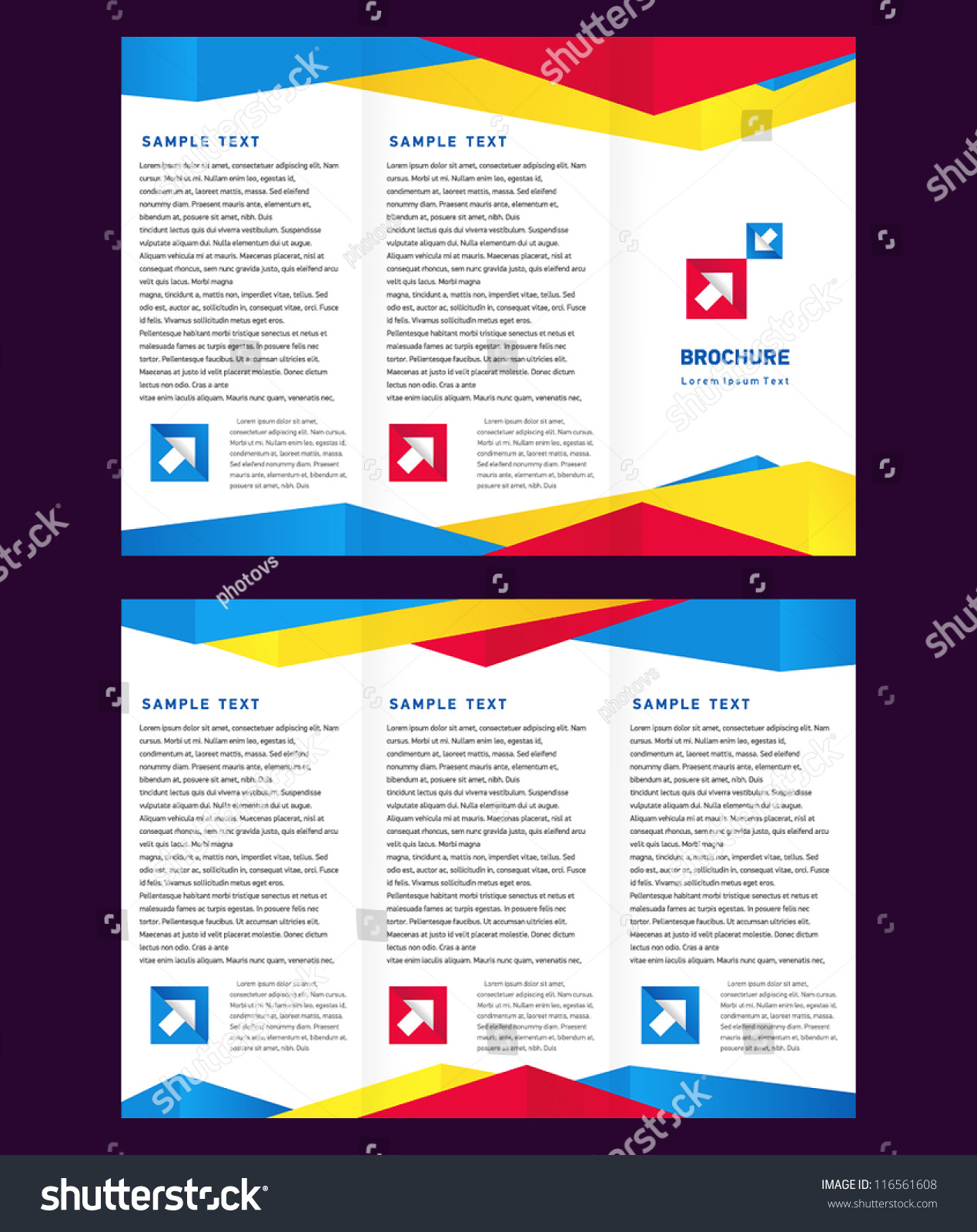 creative design vector brochure trifold layout stock vector 116561608