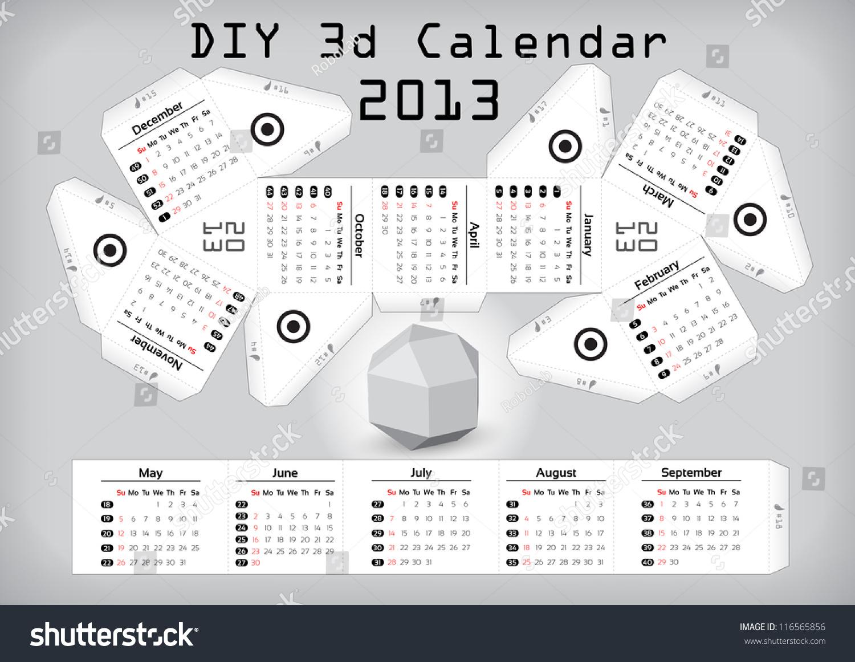 Diy Calendar Size : D diy calendar â¢ compiled size ã inch