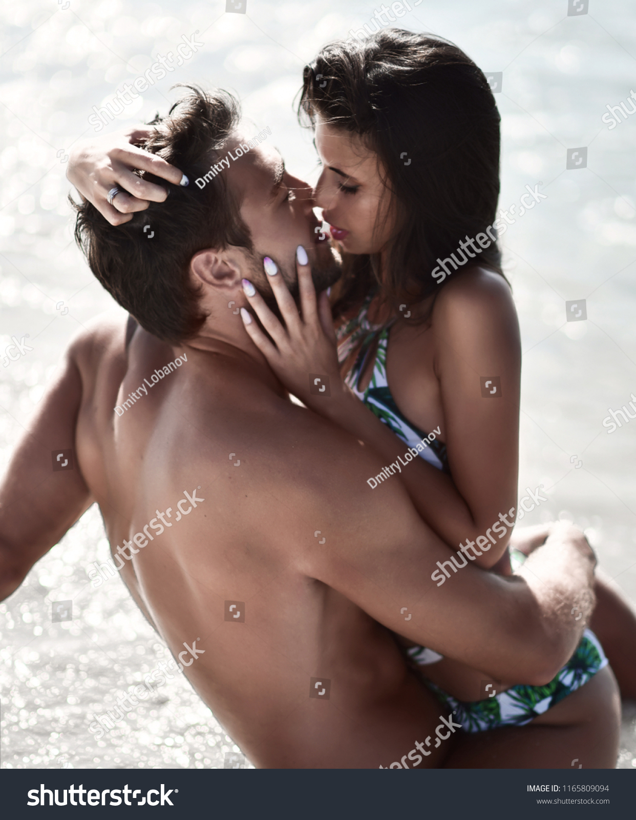 Couple Kissing And Hugging