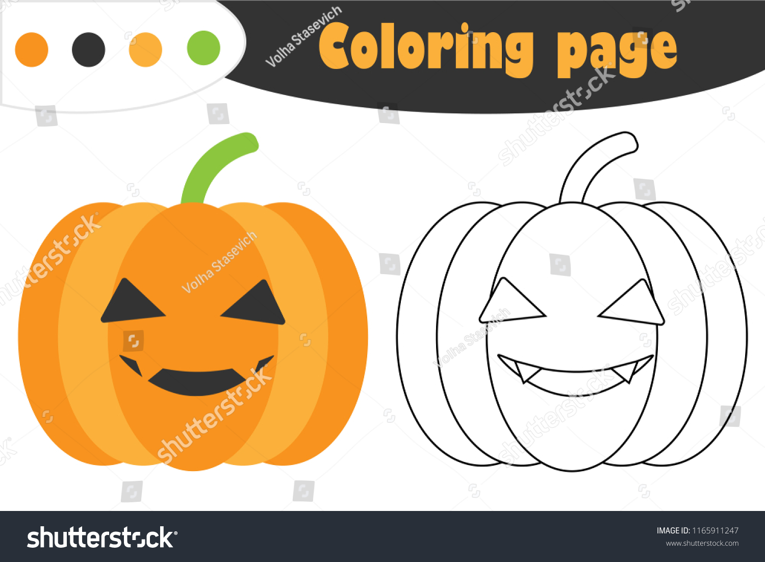 Pumpkin Coloring Pages For Preschool - Coloring Home | 1101x1500