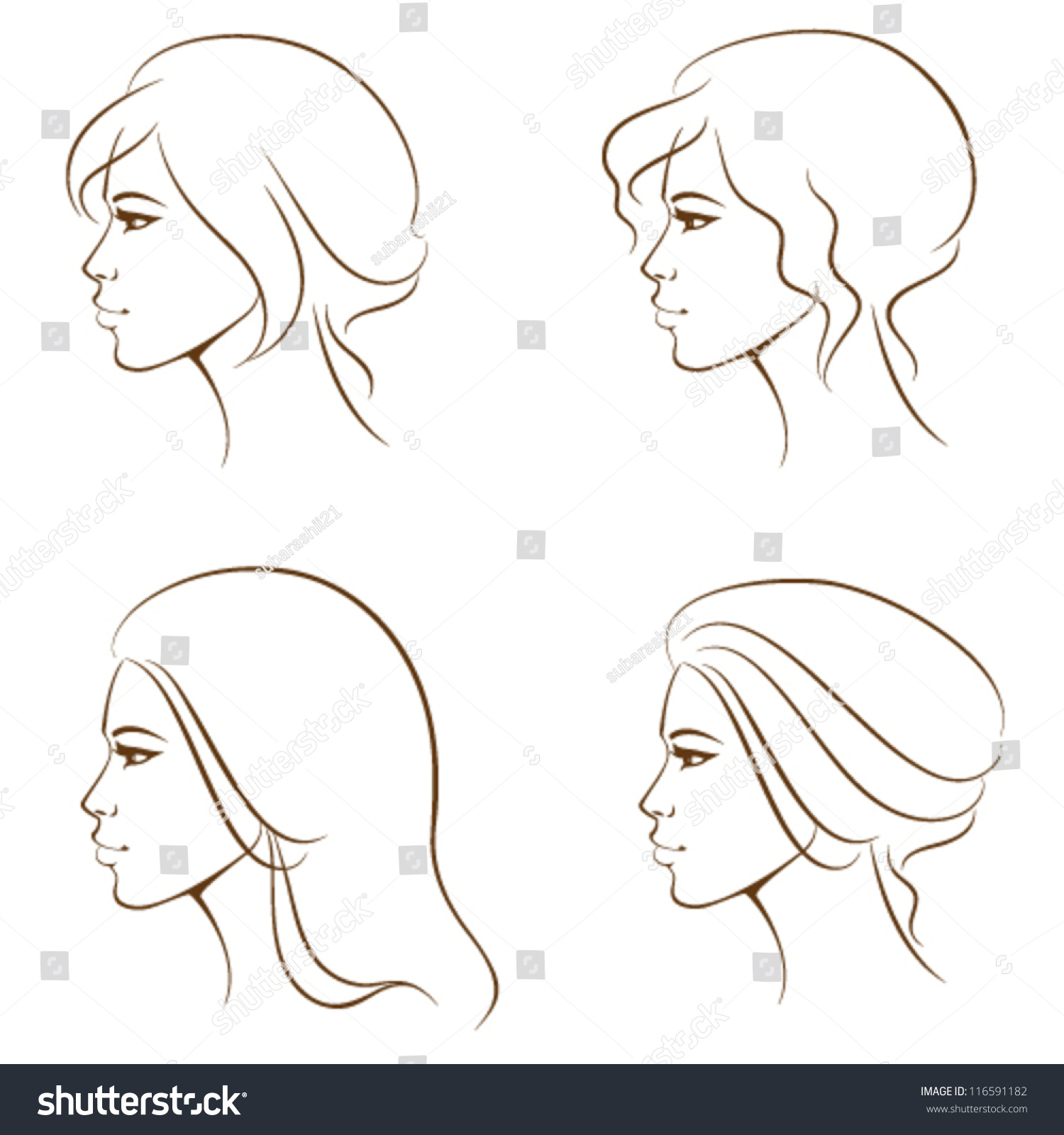 Woman Face Line Drawing Vector : Beautiful woman get profile refine hardcore pussy