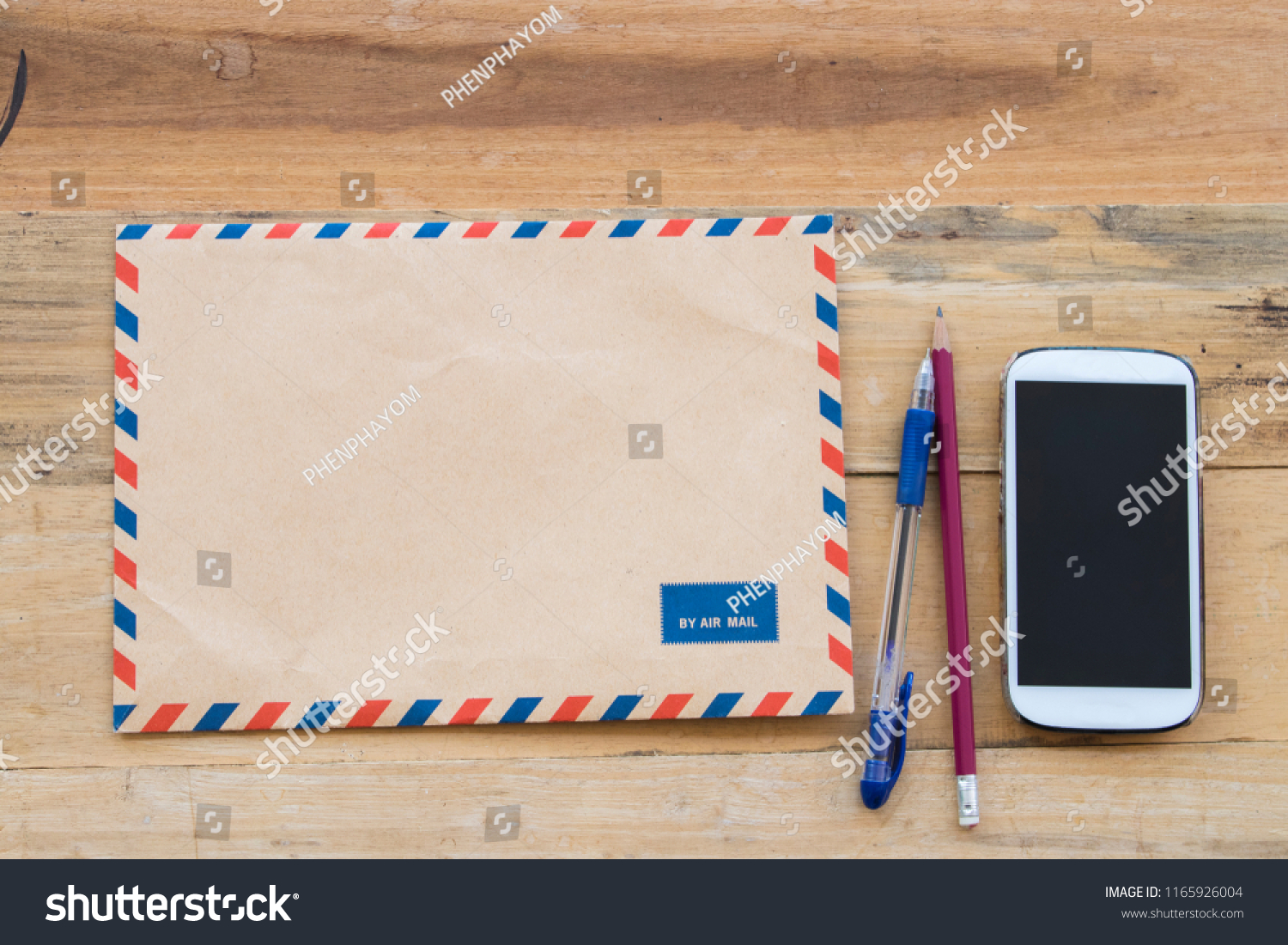 Envelope Air Mail Letter Confidential Papers Stock Photo (Edit Now