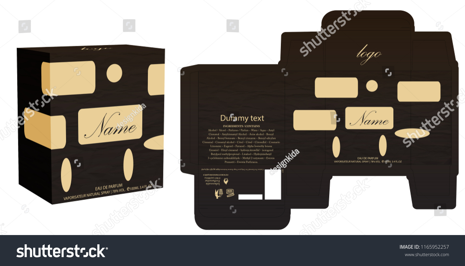 packaging design perfume luxury box design stock vector royalty