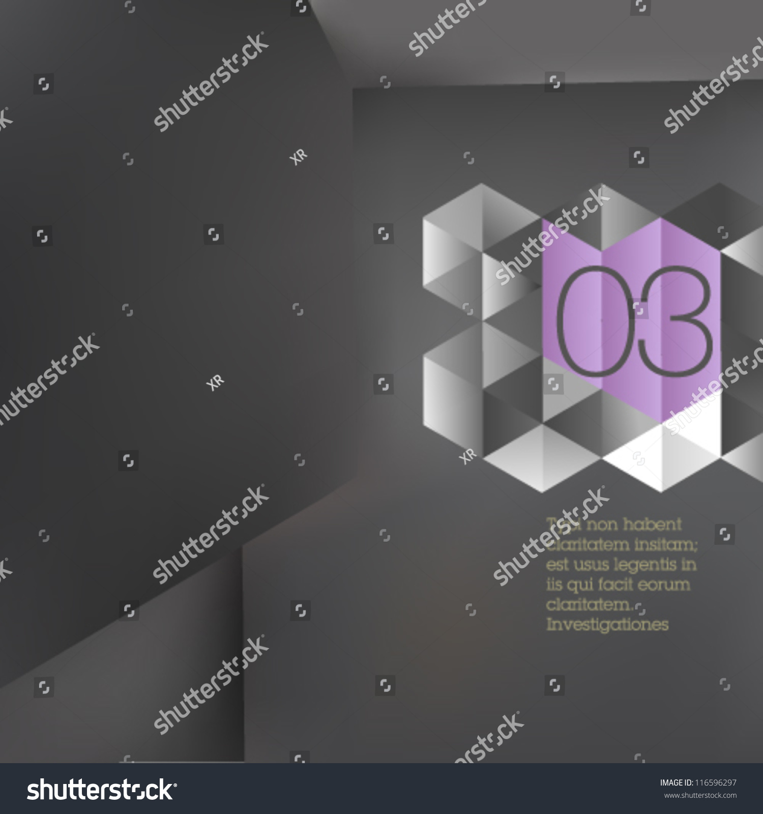 Book Cover Design Application ~ Gray polygonal design abstract architectural form