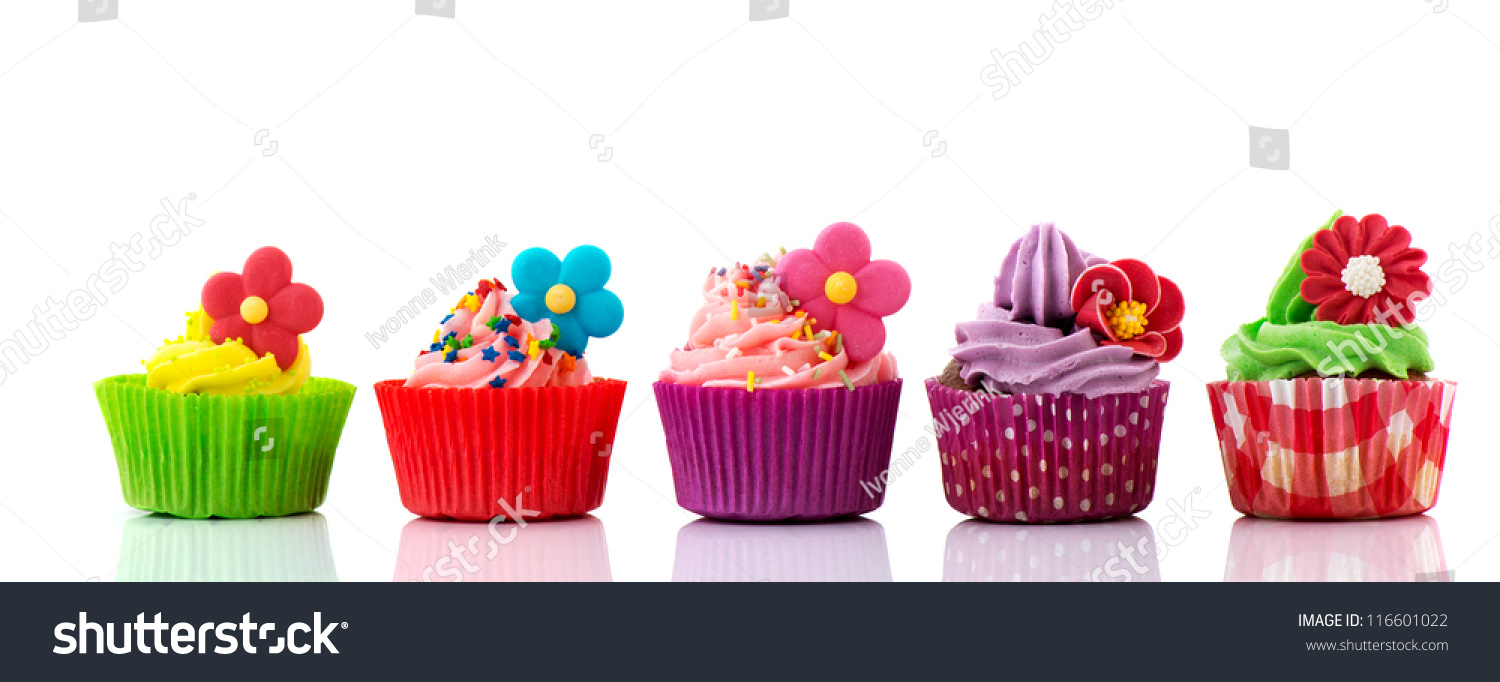 Five Yummy Cupcakes