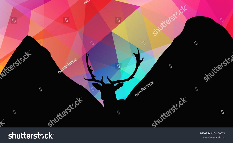 Dear Triangle Wallpaper Black Dear Colorful Stock Illustration 1166020072