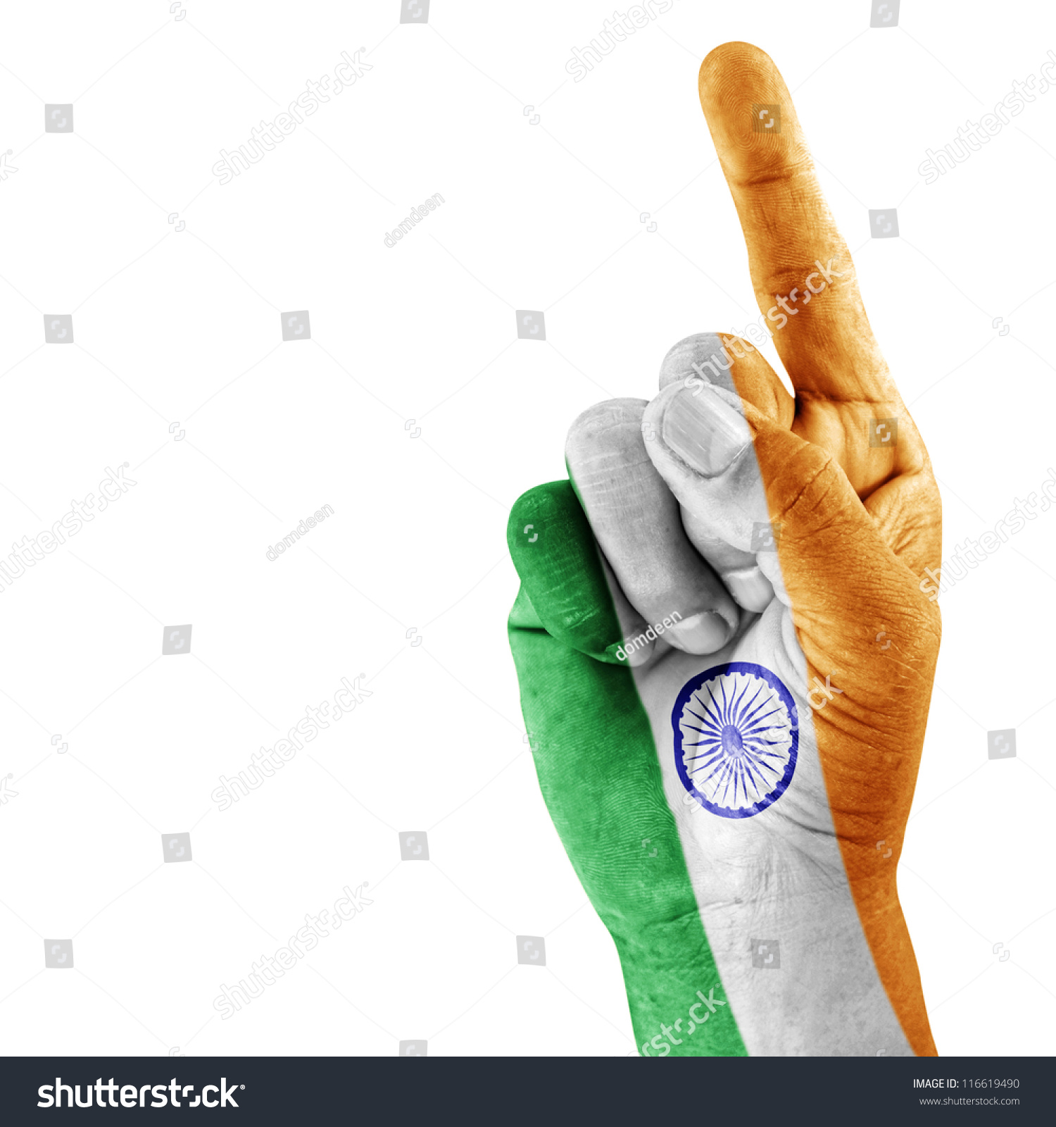 India Flag Drawn On Shoot Hand Stock Photo Edit Now 116619490