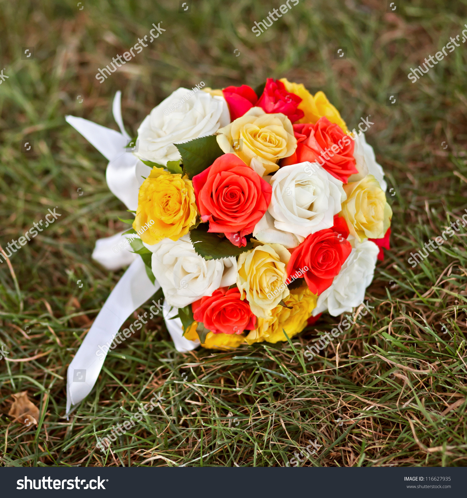 Wedding Flowers Wedding Bouquet Yellow White Stock Photo Edit Now
