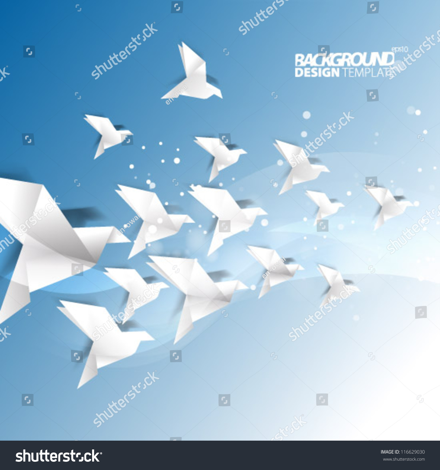 Design Template Eps10 Floating Origami Background Stock Vector